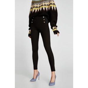 Zara Basic Black Stretch Waist Leggings
